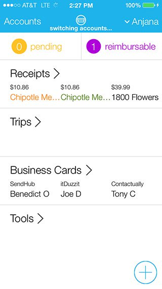 iPhone Screenshot - Shoeboxed Receipt Scanning and Organization