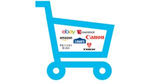 Shopping Card Ebay Amazon Overstock Lowe's Canon Pottery Barn Treck