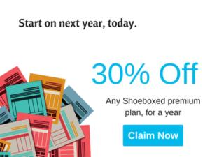 Sale 30% off shoeboxed Premium Plan Year Subscription